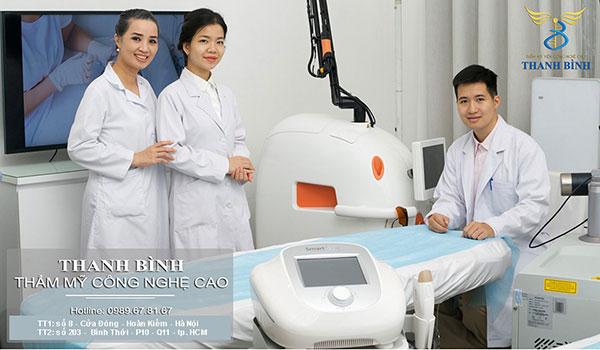 Thẩm mỹ viện Thanh Bình - Địa điểm nâng mũi Hàn Quốc tại Hà Nội hội tụ rất nhiều các chuyên gia và bác sĩ có kinh nghiệm lâu năm trong ngành thẩm mỹ