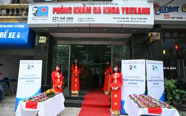 Phòng khám Đa khoa Yecxanh là một trong những địa chỉ vá màng trinh uy tín ở Hà Nội